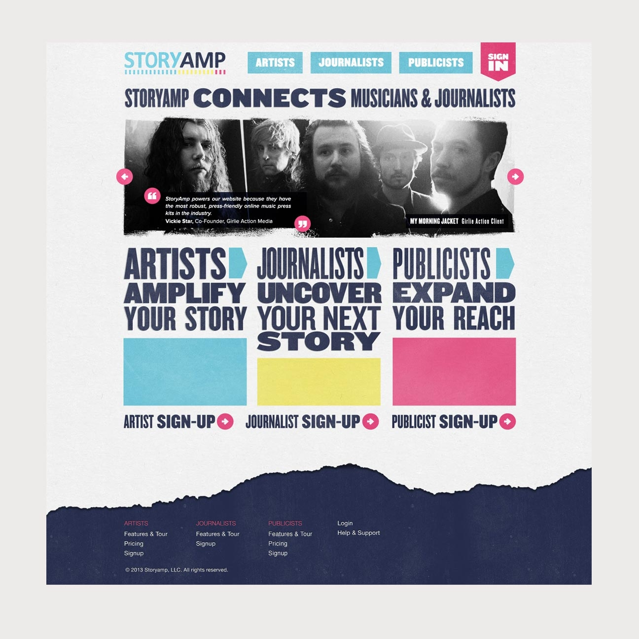 StoryAmp Marketing Site